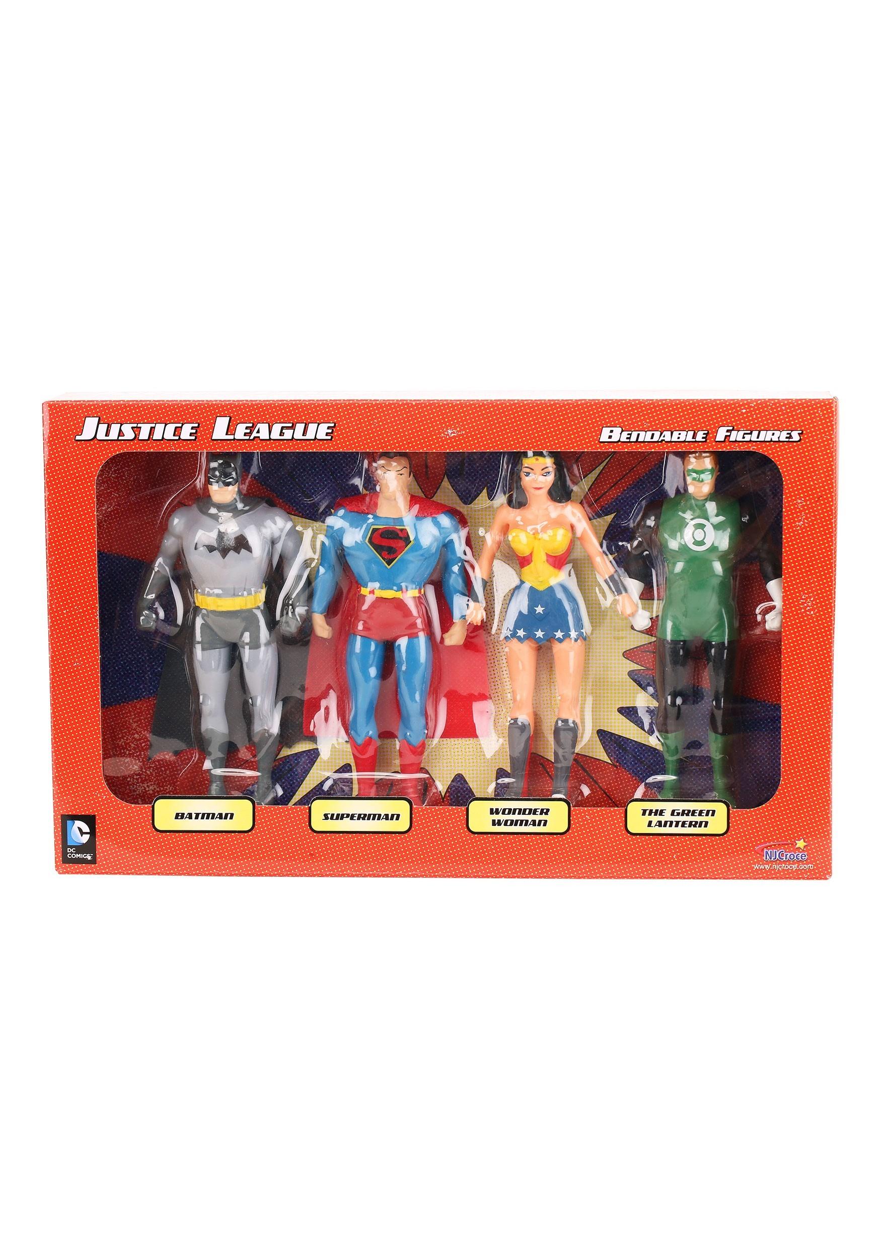 Justice League Bendable Figures Boxed Set NJCDC3900