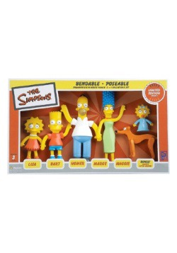 The Simpsons Family Bendable Figures Boxed Set