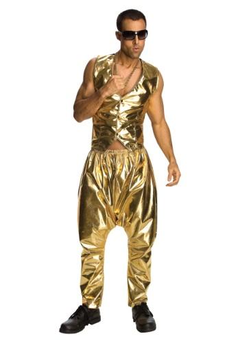 Mens MC Hammer Gold Pants