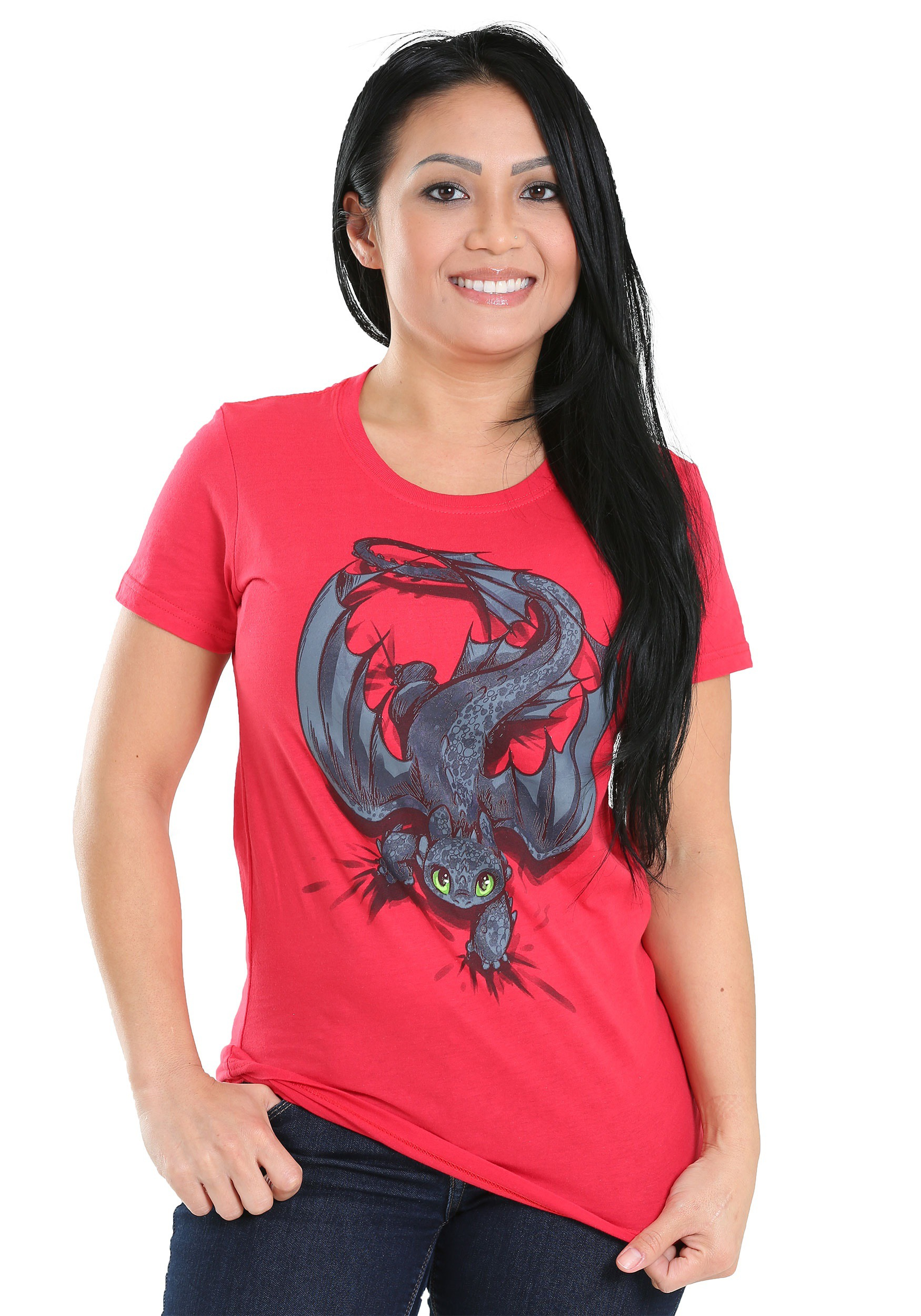 How To Train Your Dragon Night Fury X-ing Juniors T-Shirt MFA5650CDD1