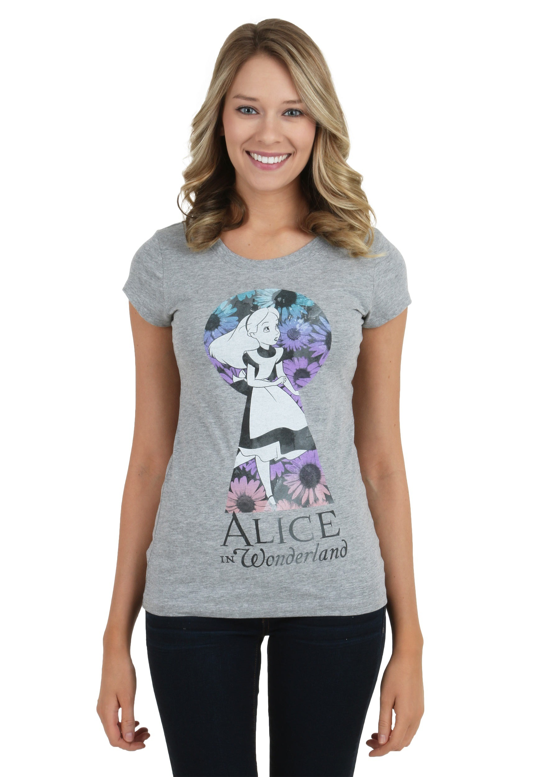Womens Alice In Wonderland Alice Keyhole T Shirt