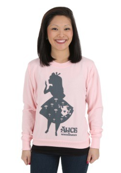 Women's Alice in Wonderland Shadow Alice Pullover Sweatshirt