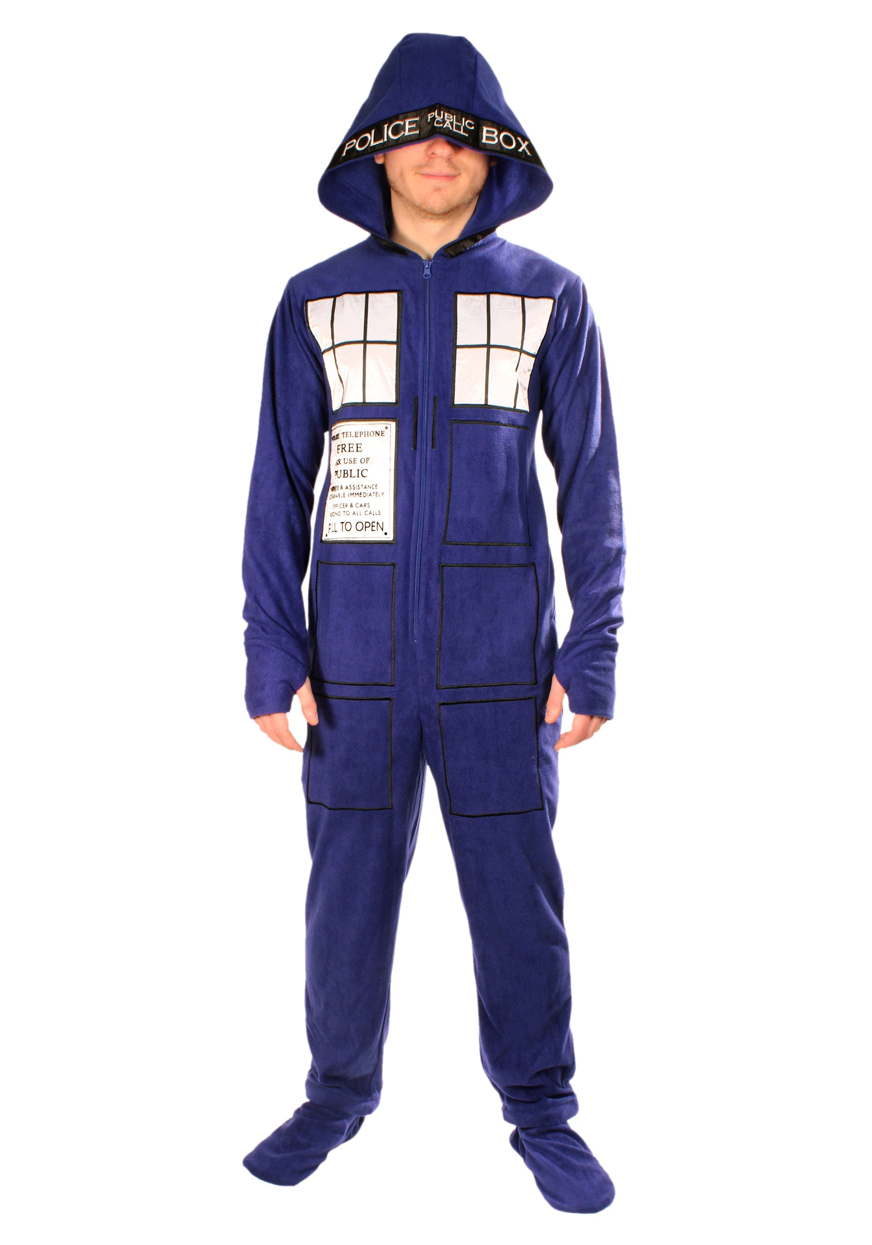215302081e63 Adult Doctor Who TARDIS Pajamas Costume