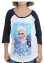 Frozen Group Tween Girls Raglan Shirt