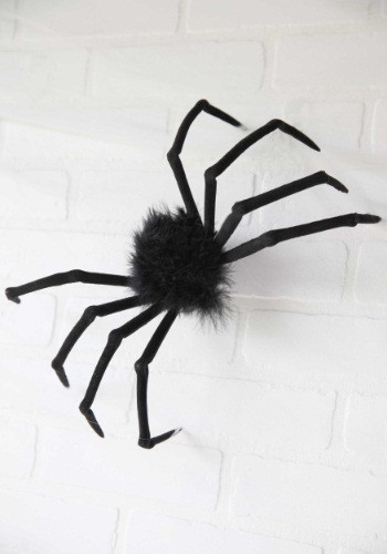 "Small Furry Spider Halloween 16"" Decoration"