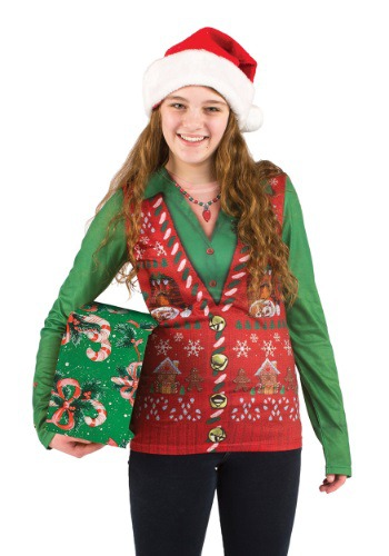 Fun.com - Women's Ugly Christmas Sweater Vest Shirt Photo