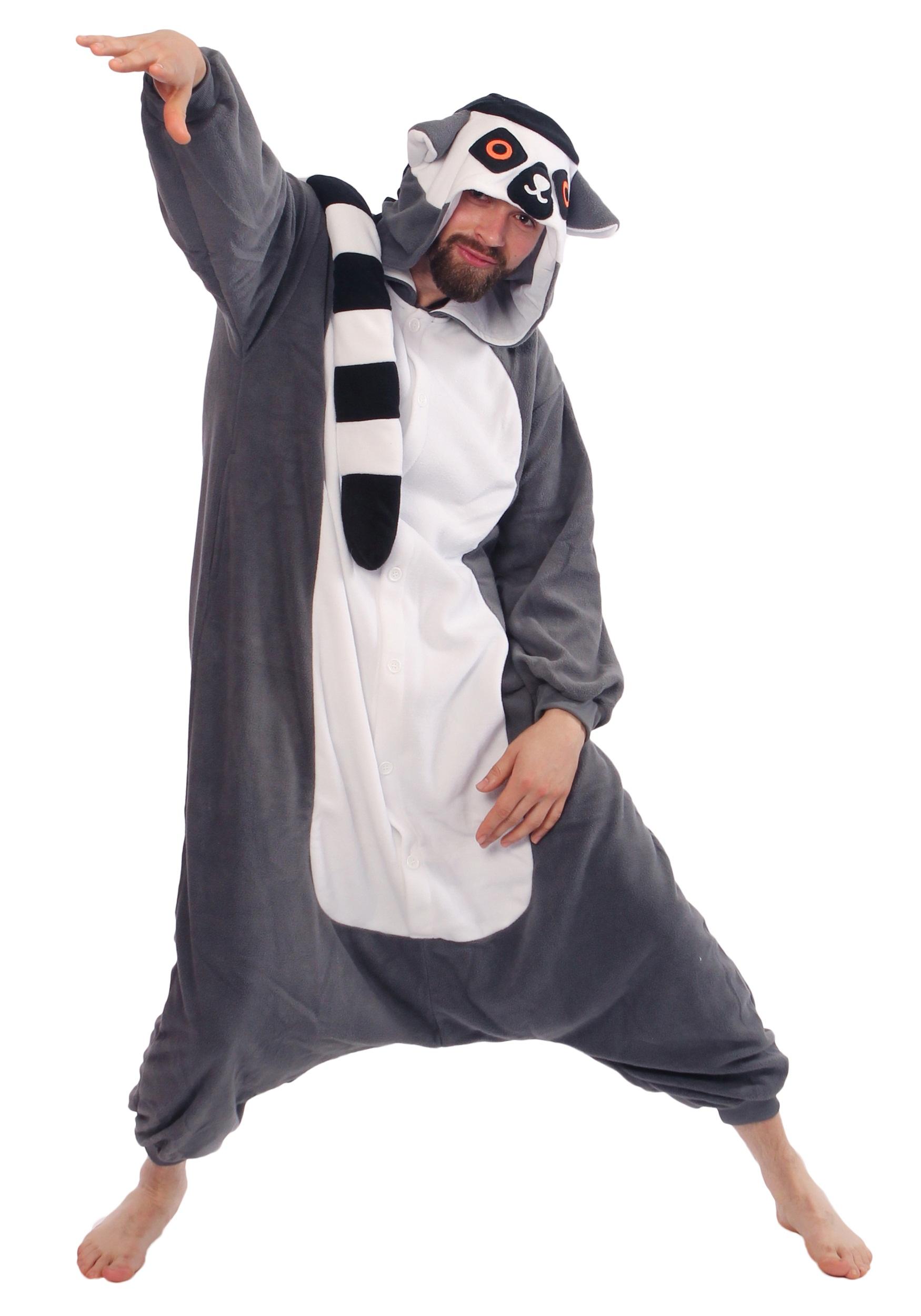 e03d68913c51 Adult Lemur Pajama Costume3