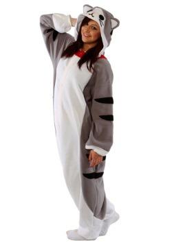 Adult Tabby Cat Pajama Costume3