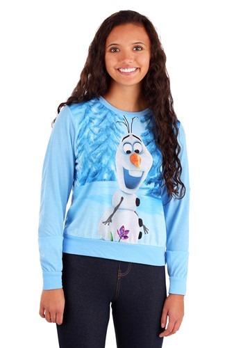 Frozen Olaf Snow Flower Juniors Long Sleeve