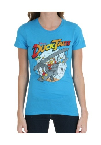 Ducktales Plane Juniors T-Shirt
