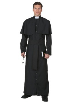 Deluxe Priest Plus Size Mens Costume