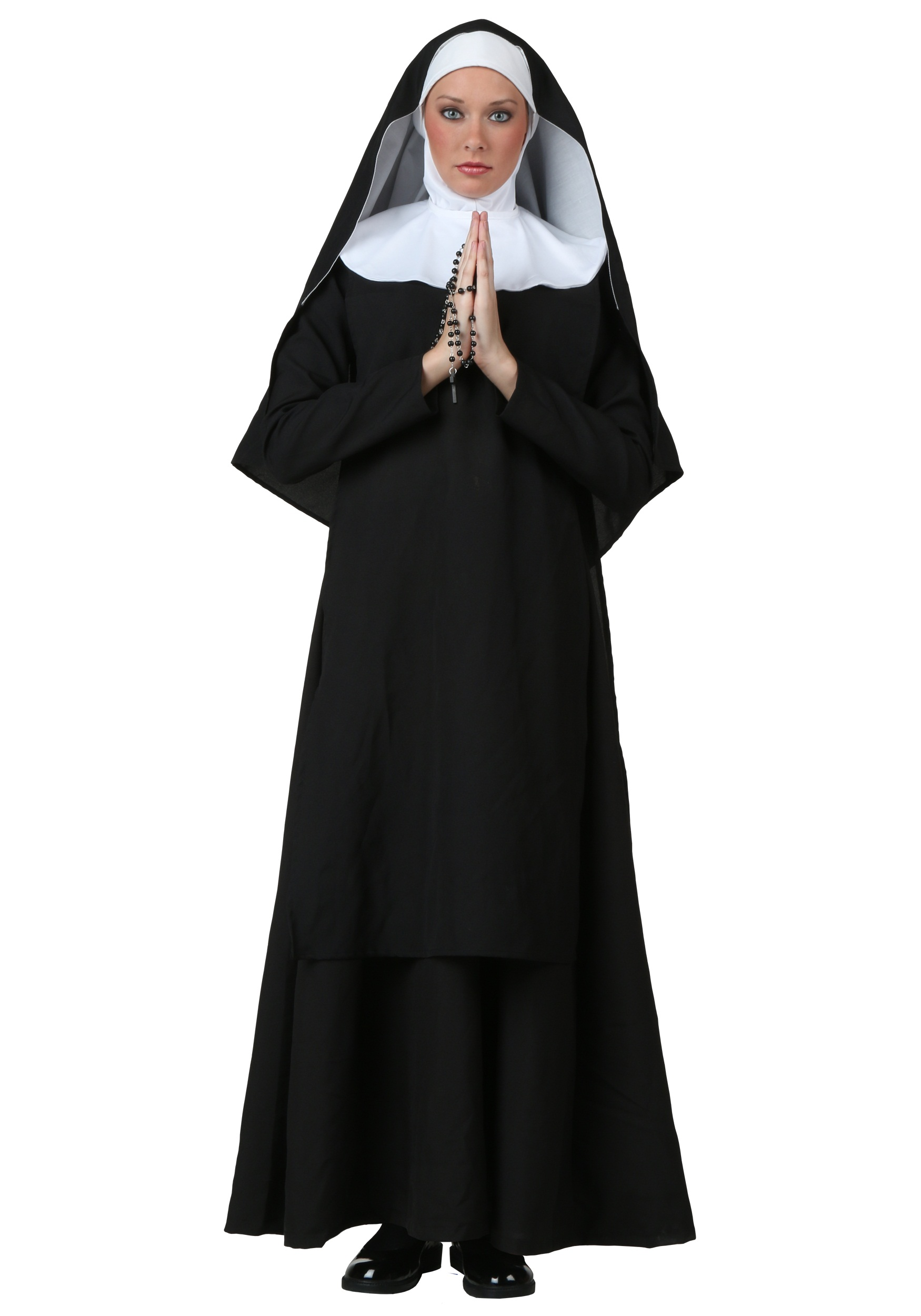 Deluxe Nun Plus Size Costume for Women