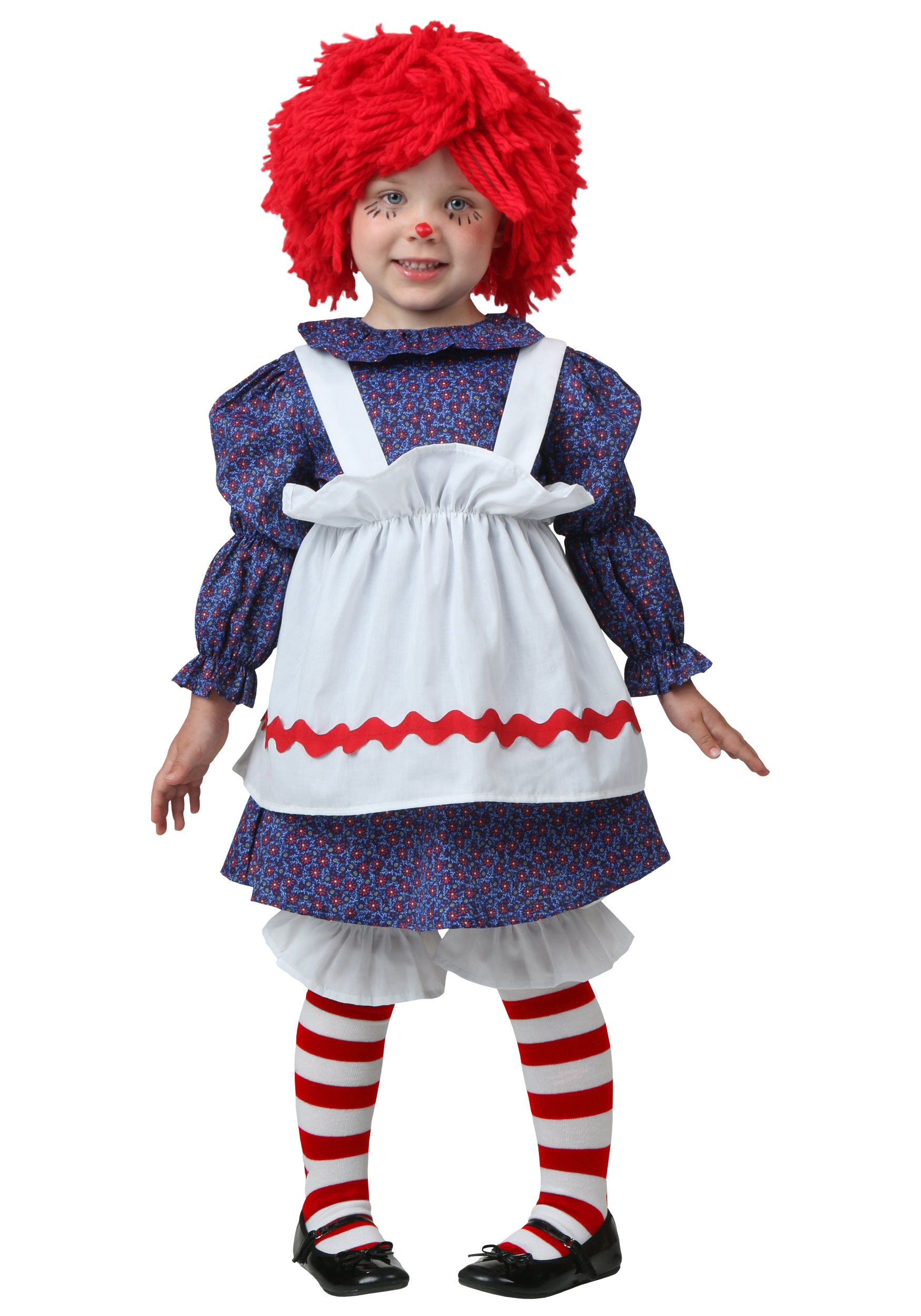 Costume Rag Doll Small Adult Woman Raggedy Ann 5 pc