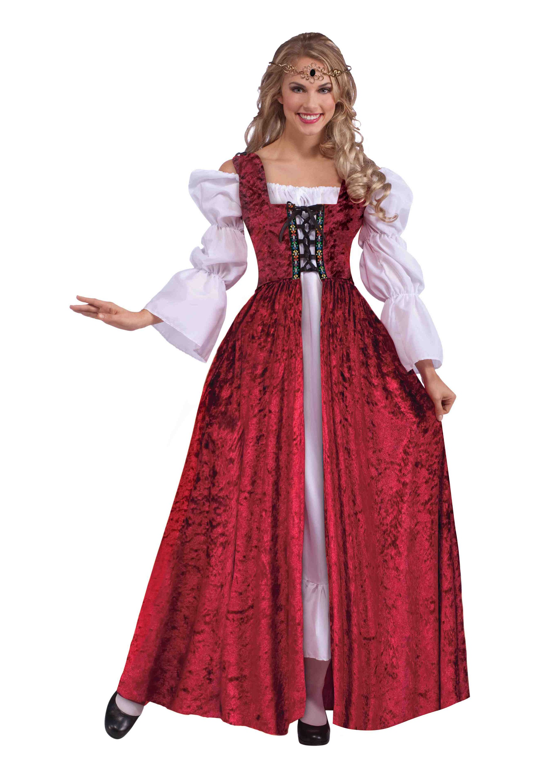 Medieval Laced Gown for Plus Size Women Costume
