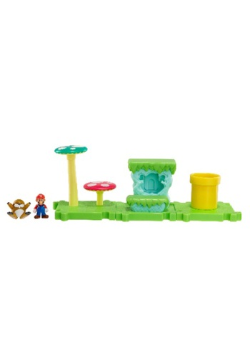 Mario Bros Acorn Plains Land with Mario Set