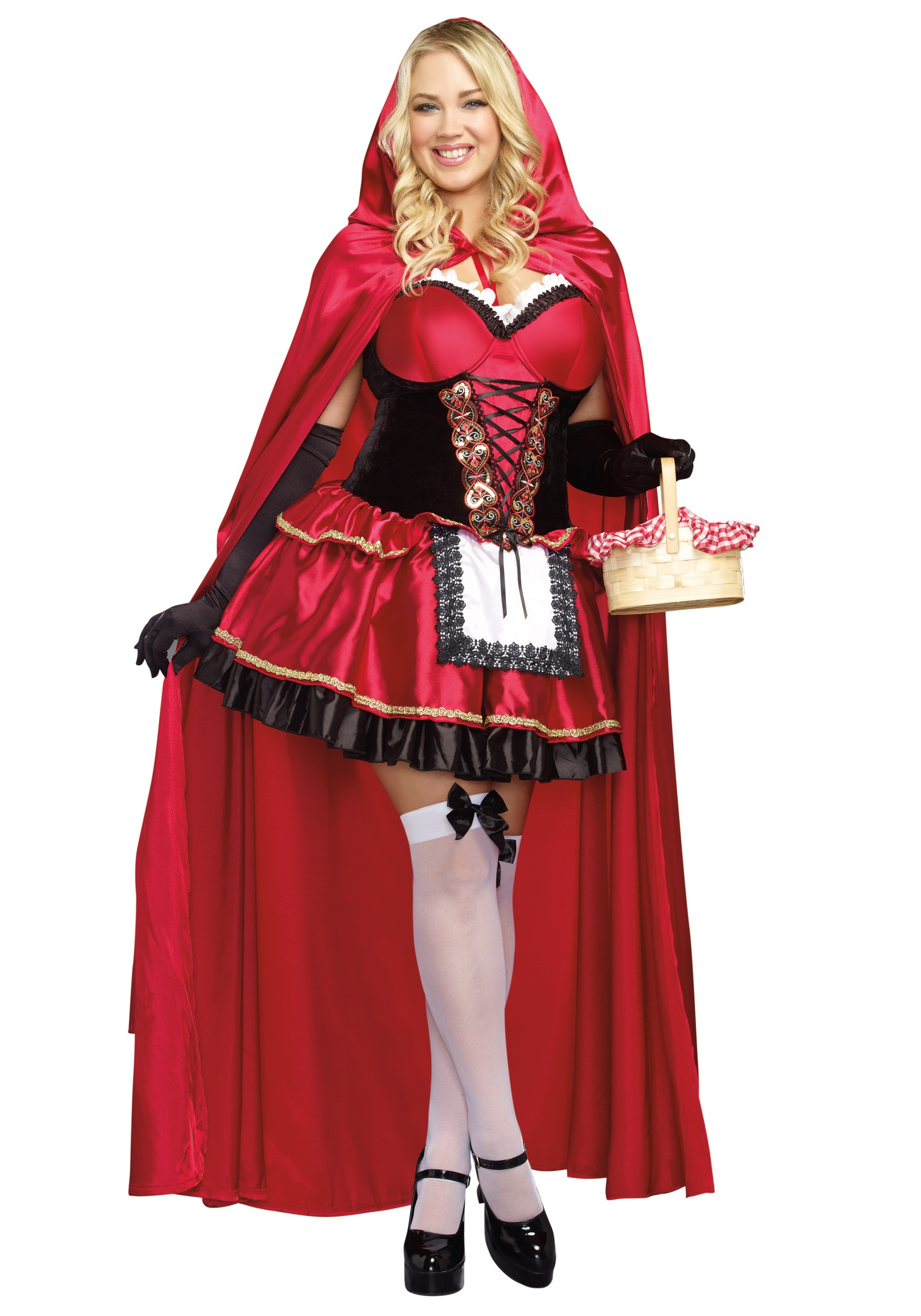 Little Red Plus Size Costume For Women
