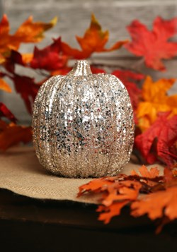 Champagne Glitter Pumpkin Halloween Decor Update 1