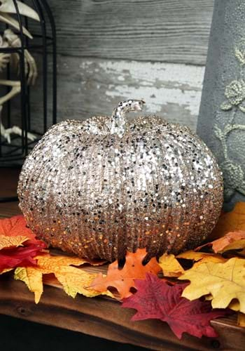 Champagne Glitter 8 Pumpkin Decoration
