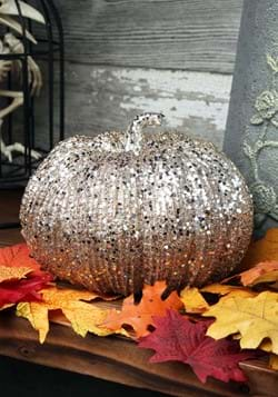 Champagne Glitter 8 Pumpkin Decoration