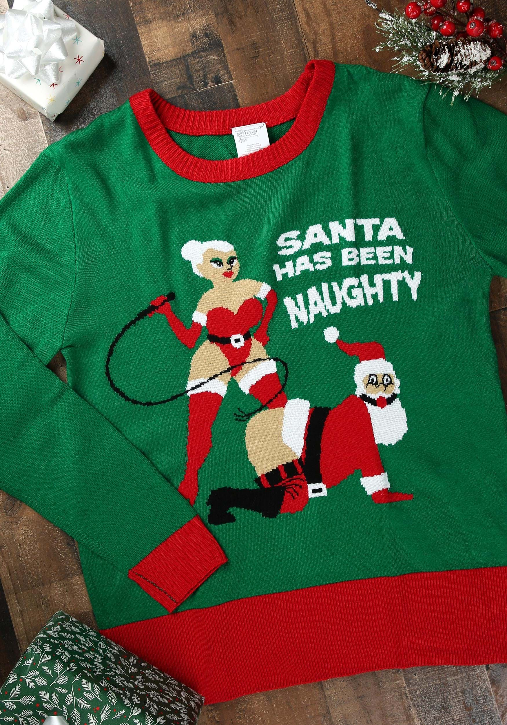 Best Ugly Christmas Sweater.Santa Has Been Naughty Ugly Christmas Sweater