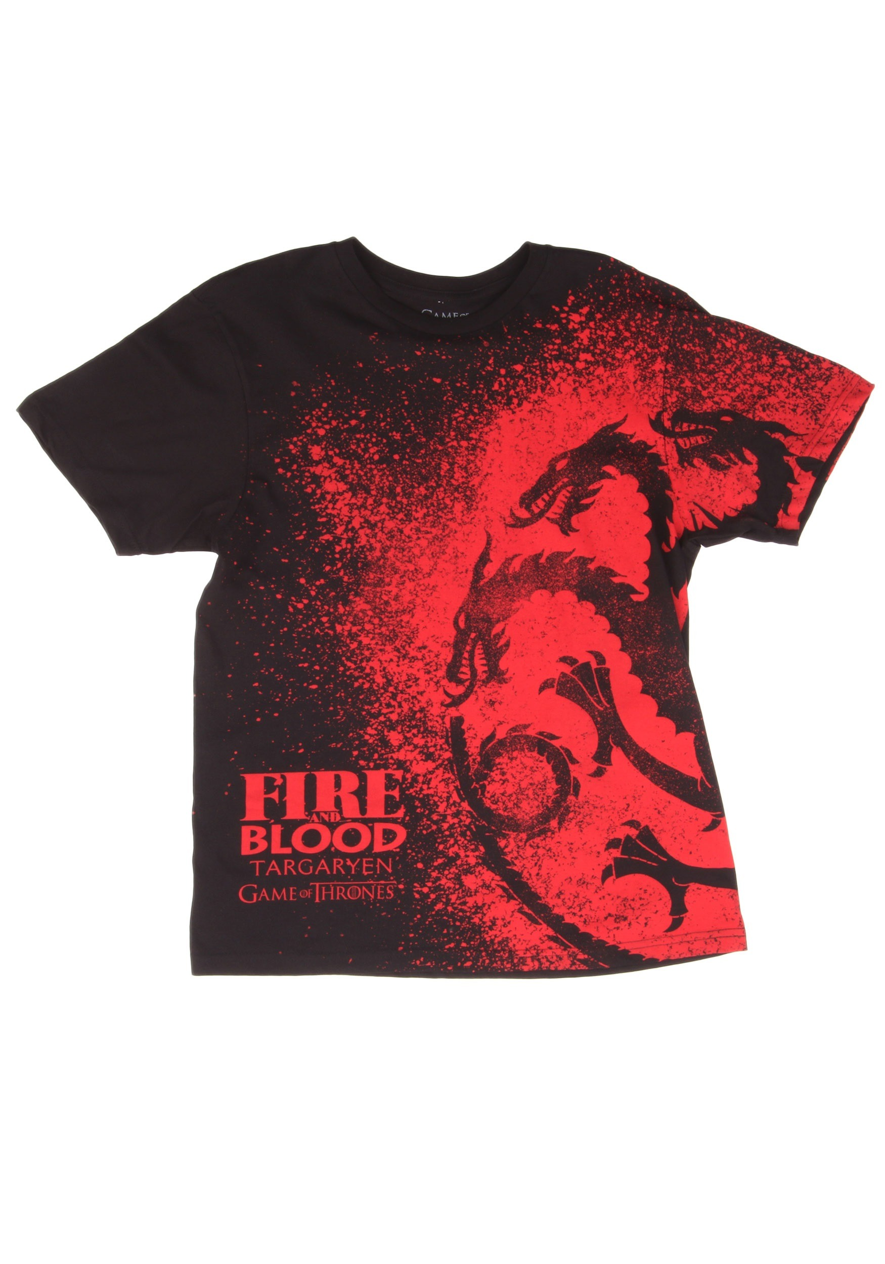 game of thrones fire blood t shirt for men. Black Bedroom Furniture Sets. Home Design Ideas