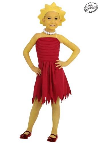 Girls Lisa Simpson Costume