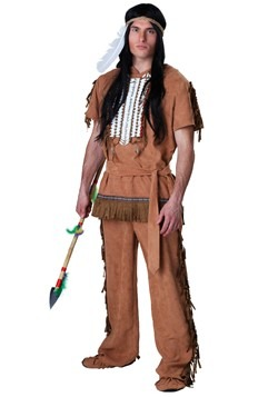 Mens Native American Warrior Costume Update Main