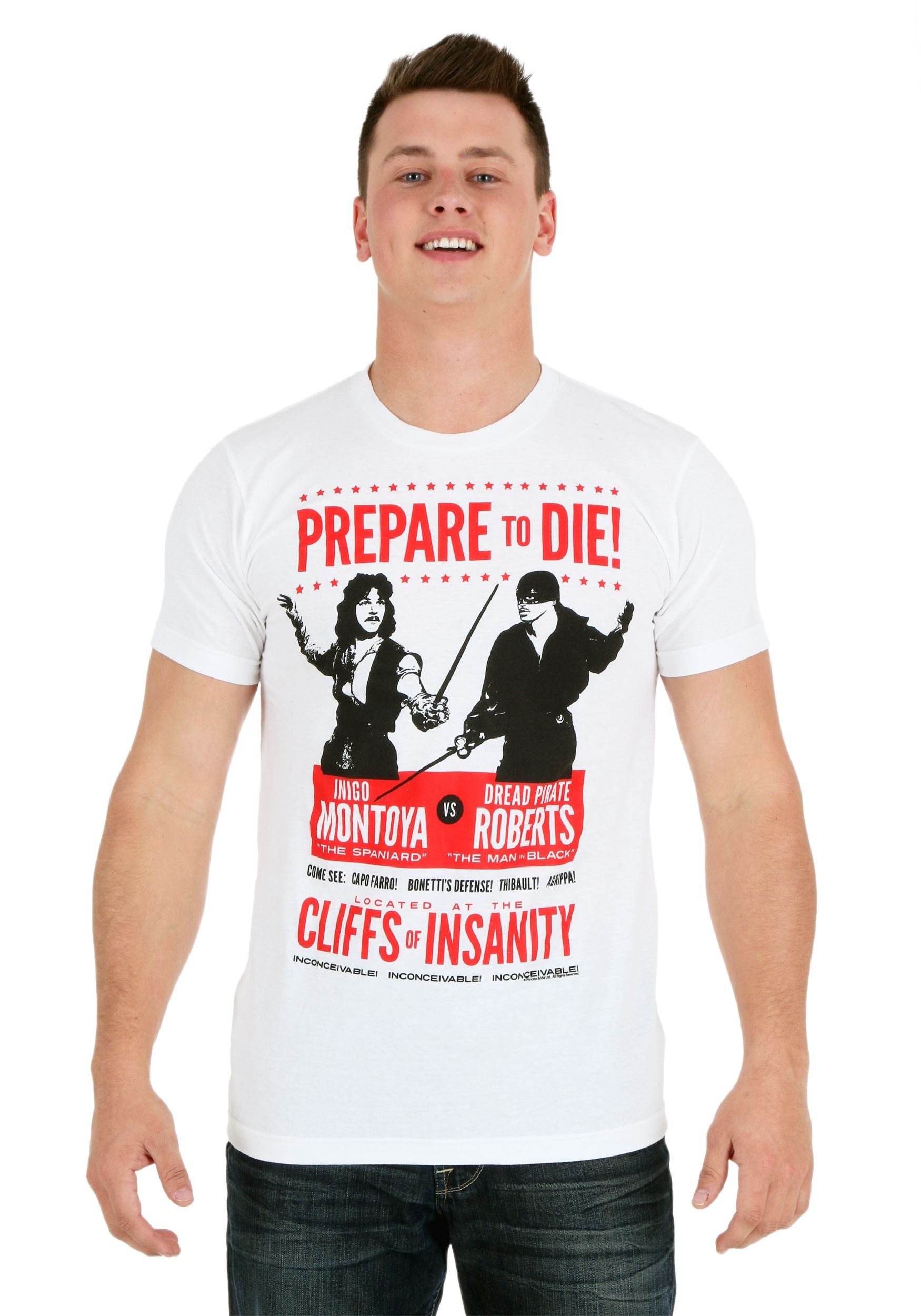 3dedd0dc Princess Bride Prepare To Die Poster Men's T-Shirt Update Ma