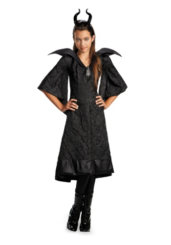 Girls Classic Maleficent Costume Dress