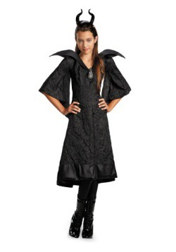 Girls Classic Maleficent Costume Dress