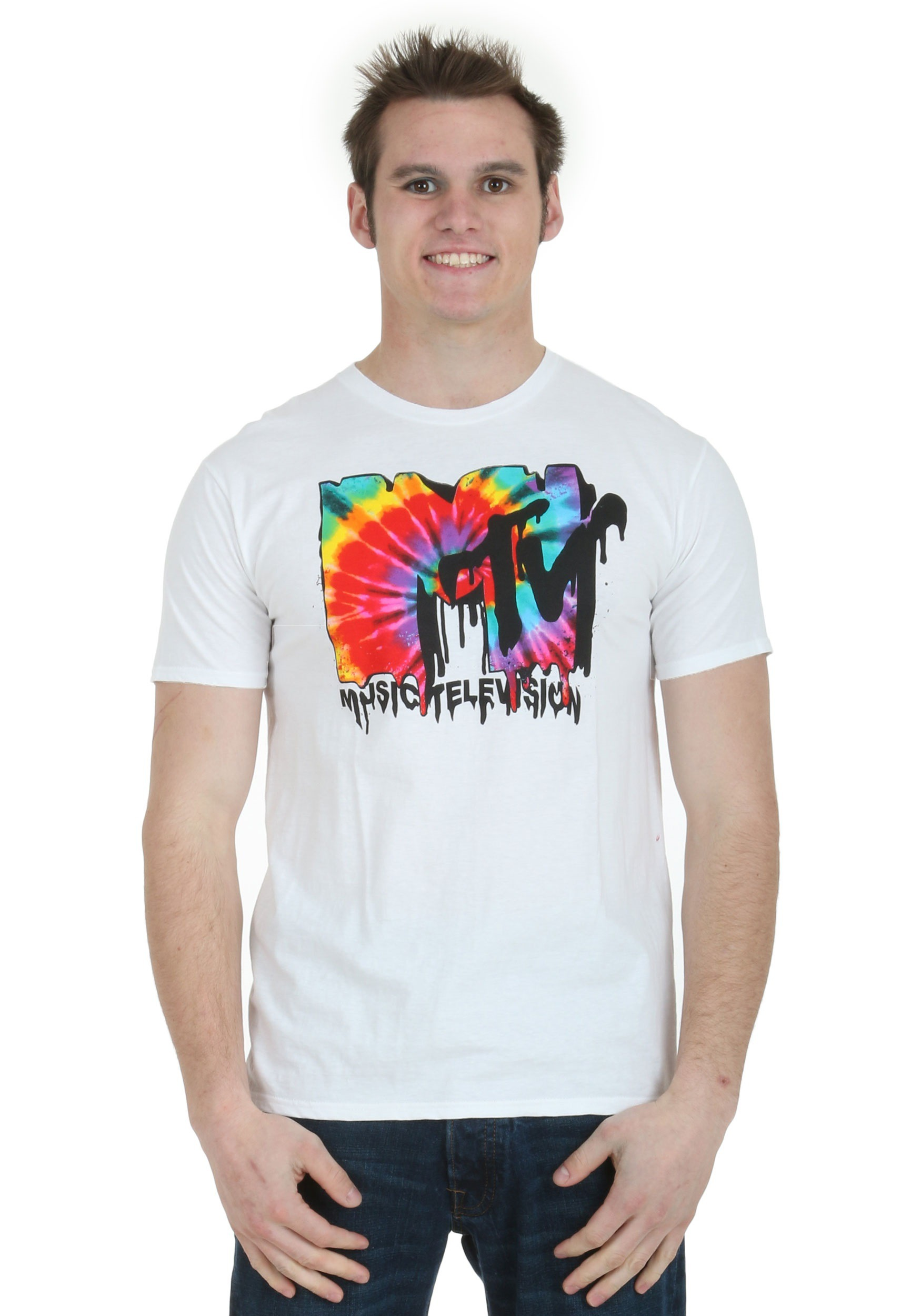 Mtv melted tie dye logo men 39 s t shirt for Tahari t shirt mens