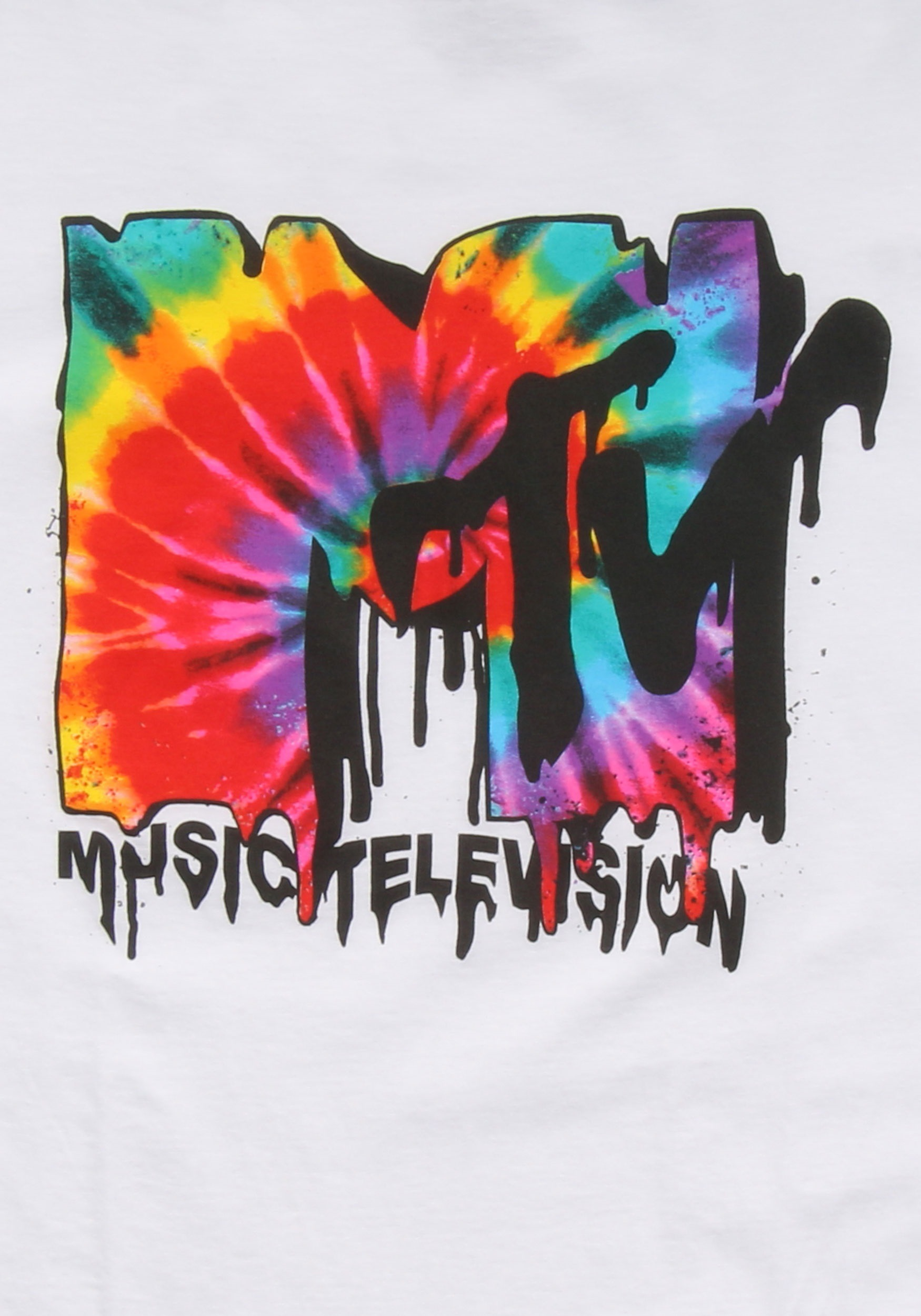 Mtv Melted Tie Dye Logo Men S T Shirt