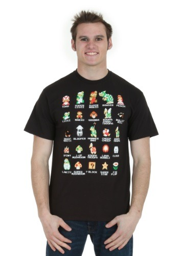 Pixel Cast Black T-Shirt for Men