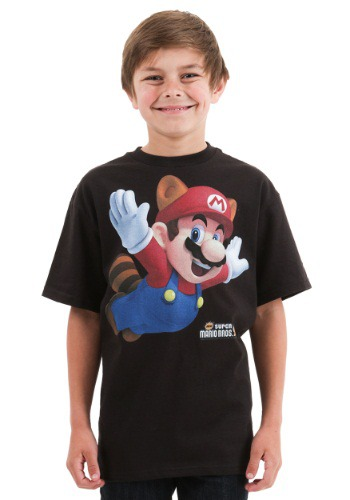 Mario Raccoon Suit Boys T-Shirt