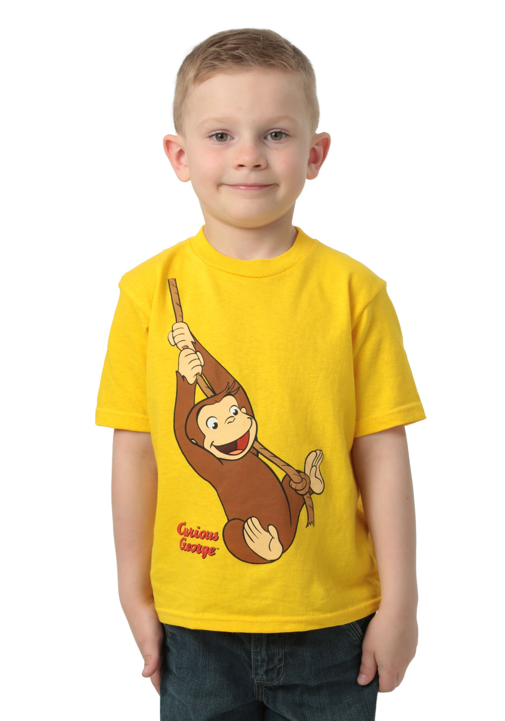Toddler Boys Curious George Rope Swing T Shirt