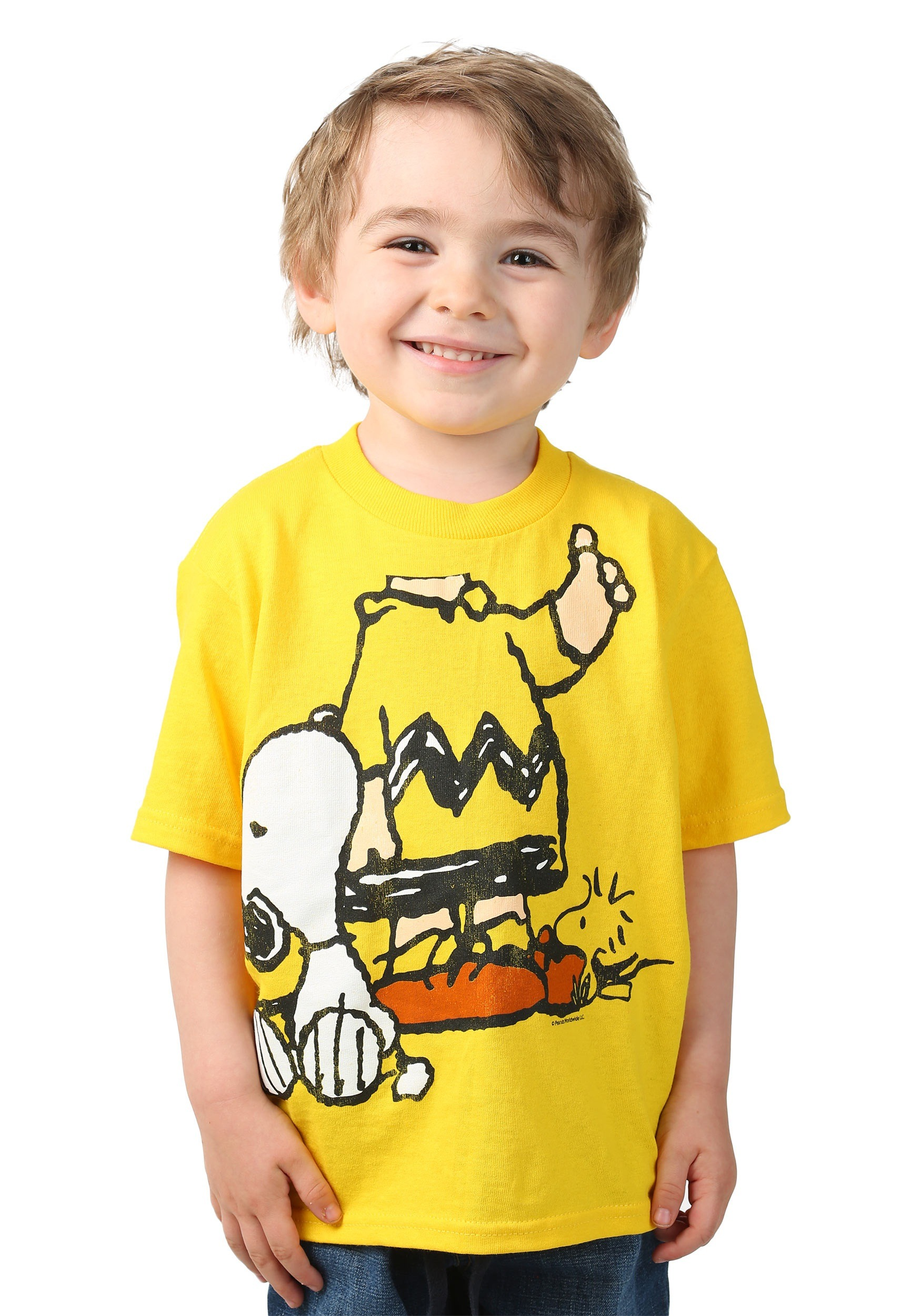 Boys/Girls Peanuts Charlie Brown T-Shirt. from $ 17 95 Prime. out of 5 stars Kavio. Toddlers Crew Neck Short Sleeve Tee Jersey (Same TJC) from $ 7 40 Prime. out of 5 stars Gioberti. Boy's Long Sleeve Dress Shirt and Plaid Tie Accessories Set $ 19 99 Prime. out of 5 stars Scooby Doo. Boys' License T-Shirt.