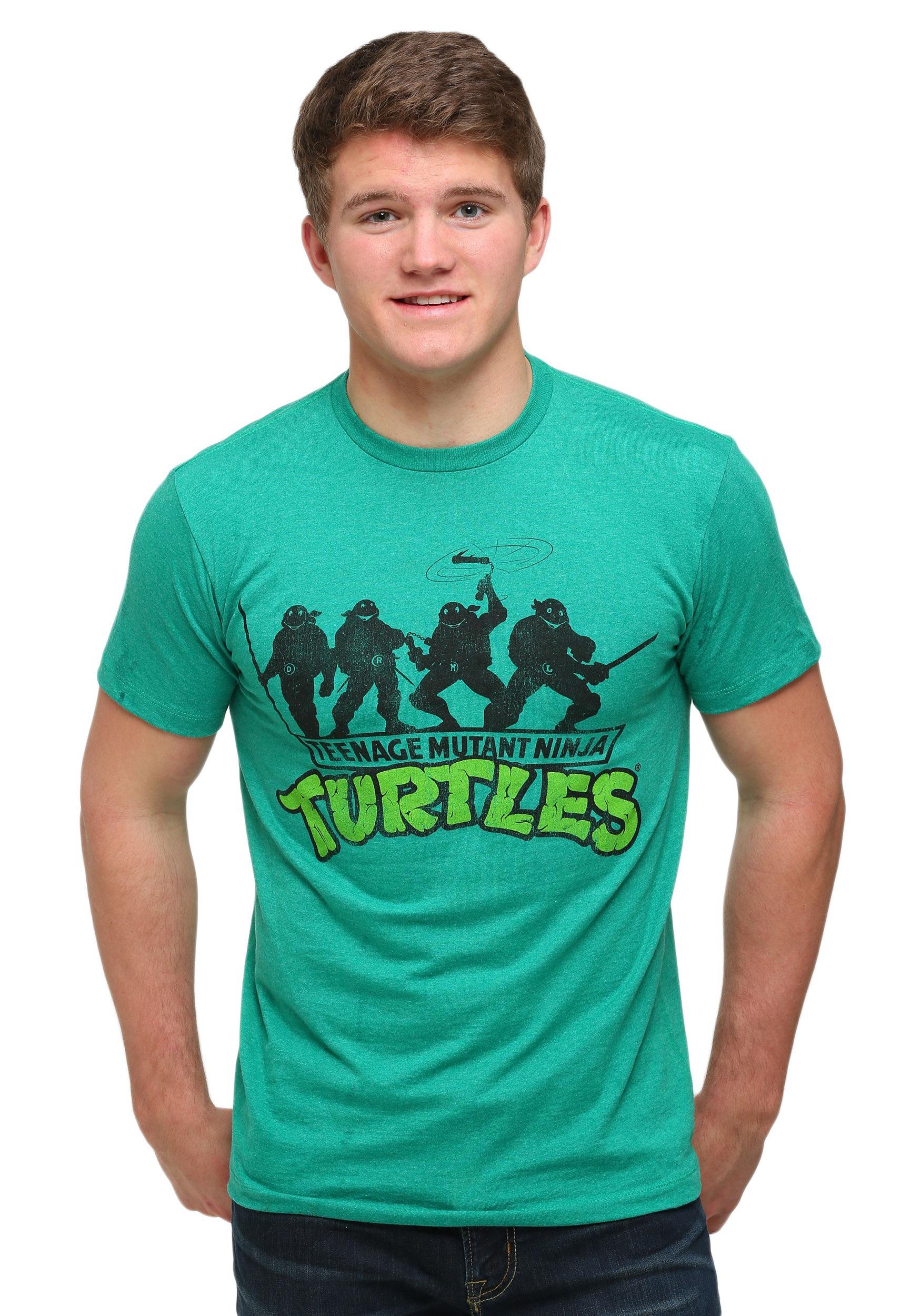 Tmnt ninja turtles green t shirt for Green turtle t shirts review