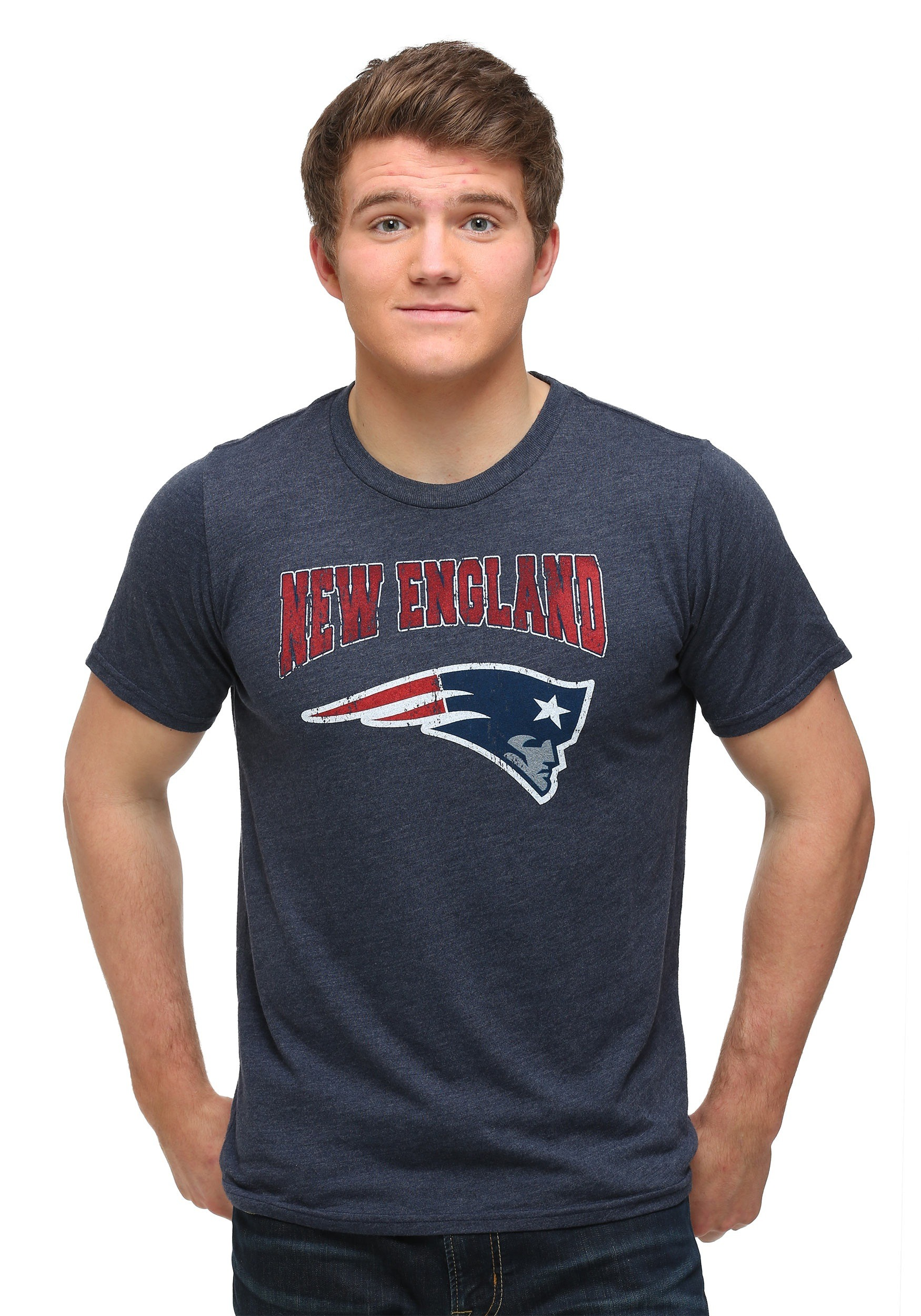 New england patriots triblend crew men 39 s t shirt for New england patriots mens shirts