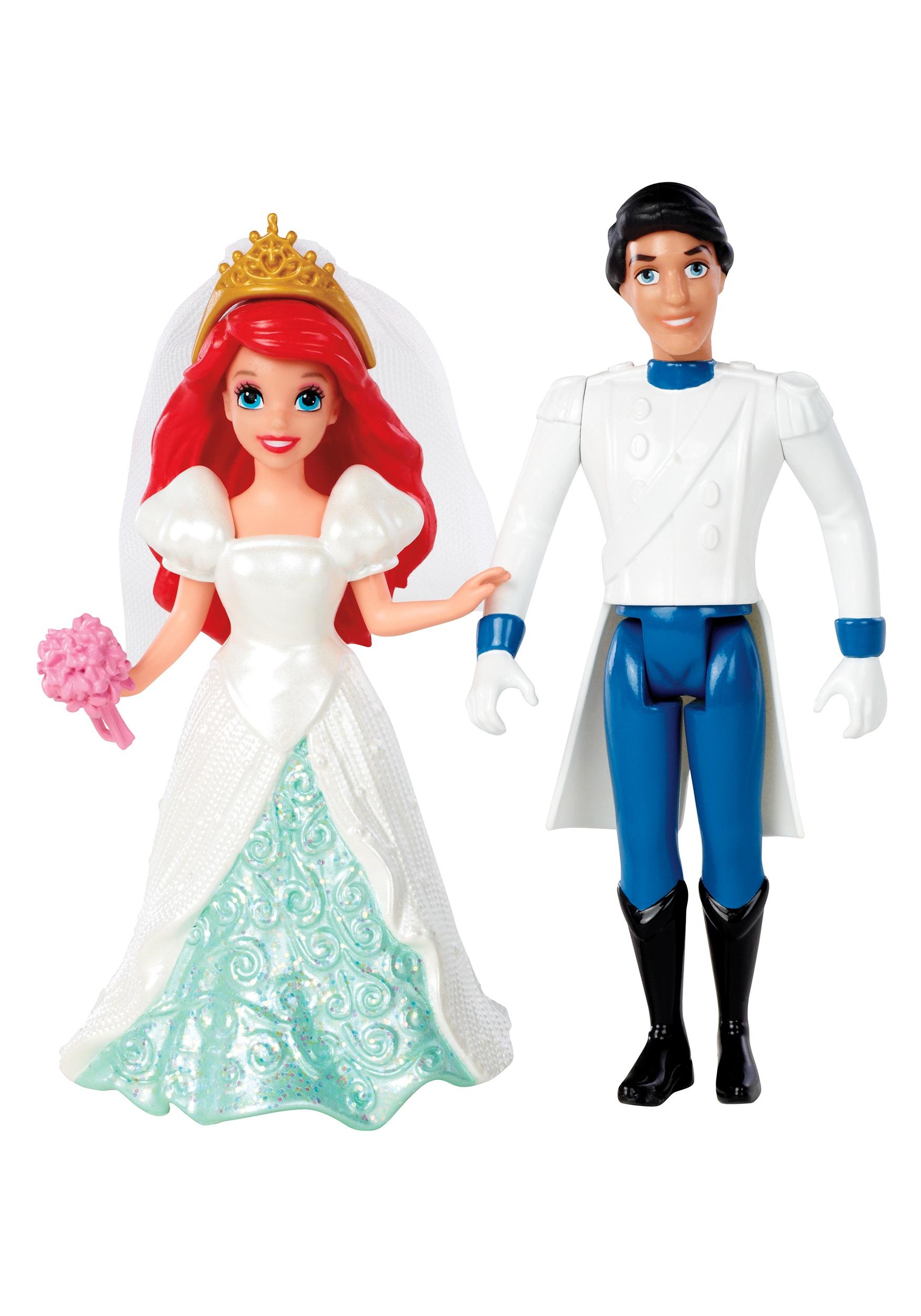 Fairytale Wedding Ariel Prince Eric Magiclip Dolls
