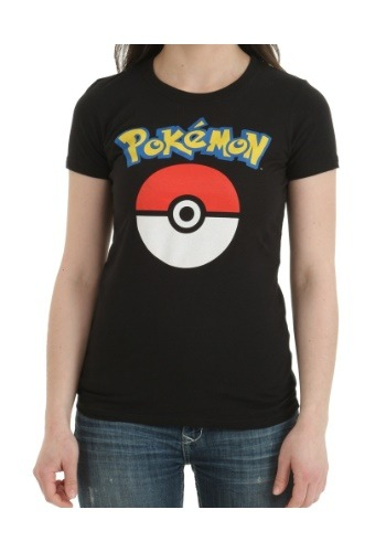 Pokemon Logo and Pokeball Juniors T-Shirt