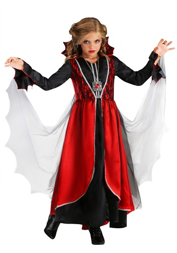 Girls Vampire Dress Costume