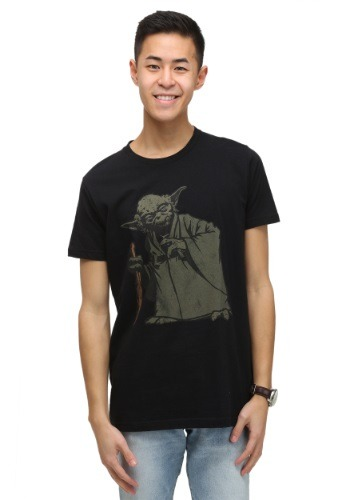 Men's Yoda Vintage Black Wash T-Shirt