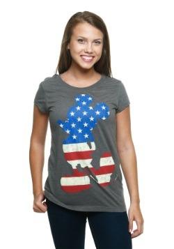 Womens Mickey Mouse USA T-Shirt