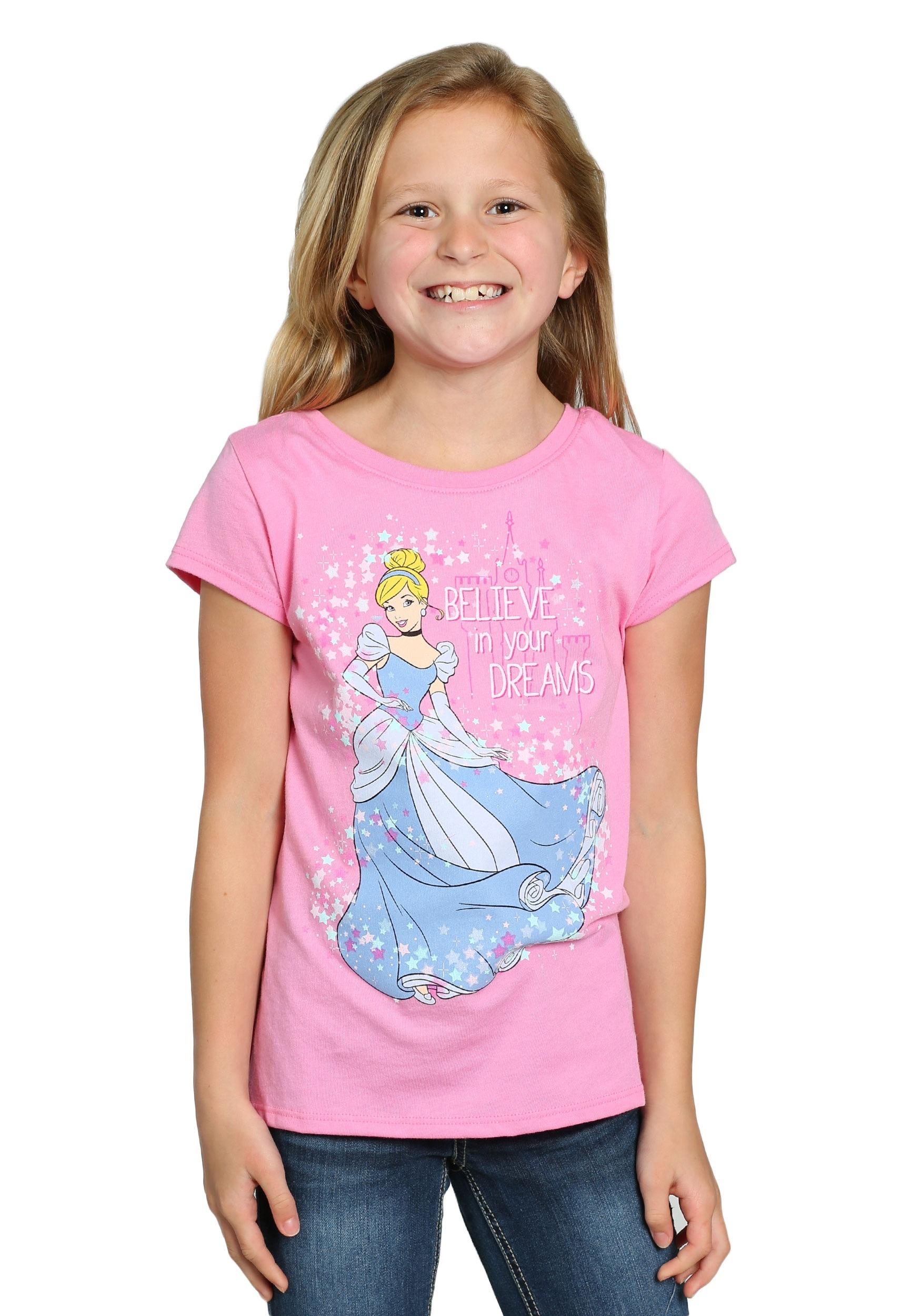 Cinderella Believe In Your Dreams Girls T Shirt