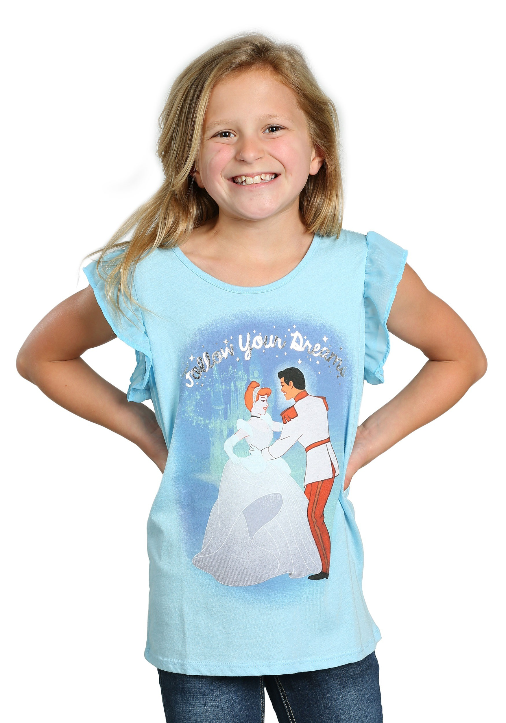 Cinderella Dancing Follow Your Dreams Girls T-Shirt