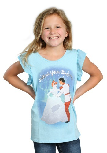Cinderella Dancing Follow Your Dreams Girls T-Shirt