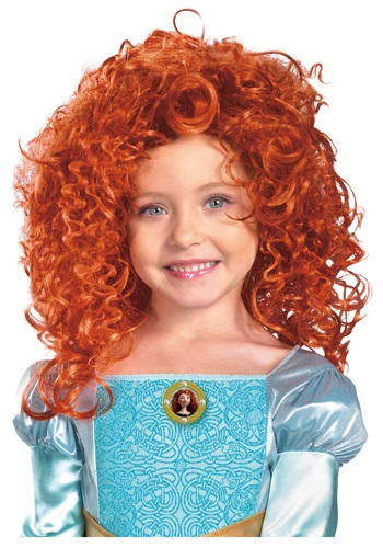 Red Merida Kids Wig