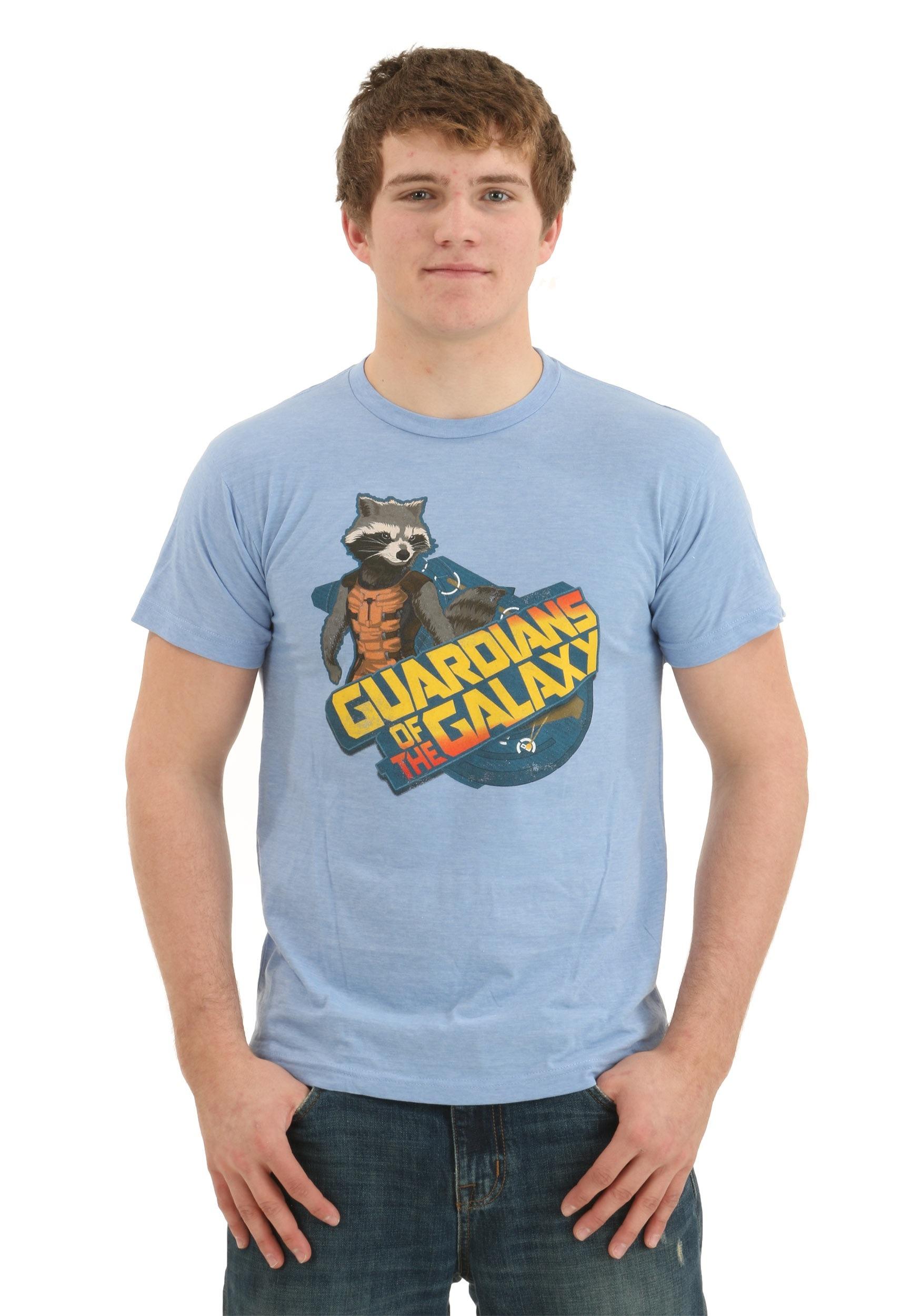 Guardians of the Galaxy Rocket Raccoon Blue T-Shirt IM452101