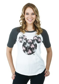 Women's Mickey Mouse Palm Trees Raglan
