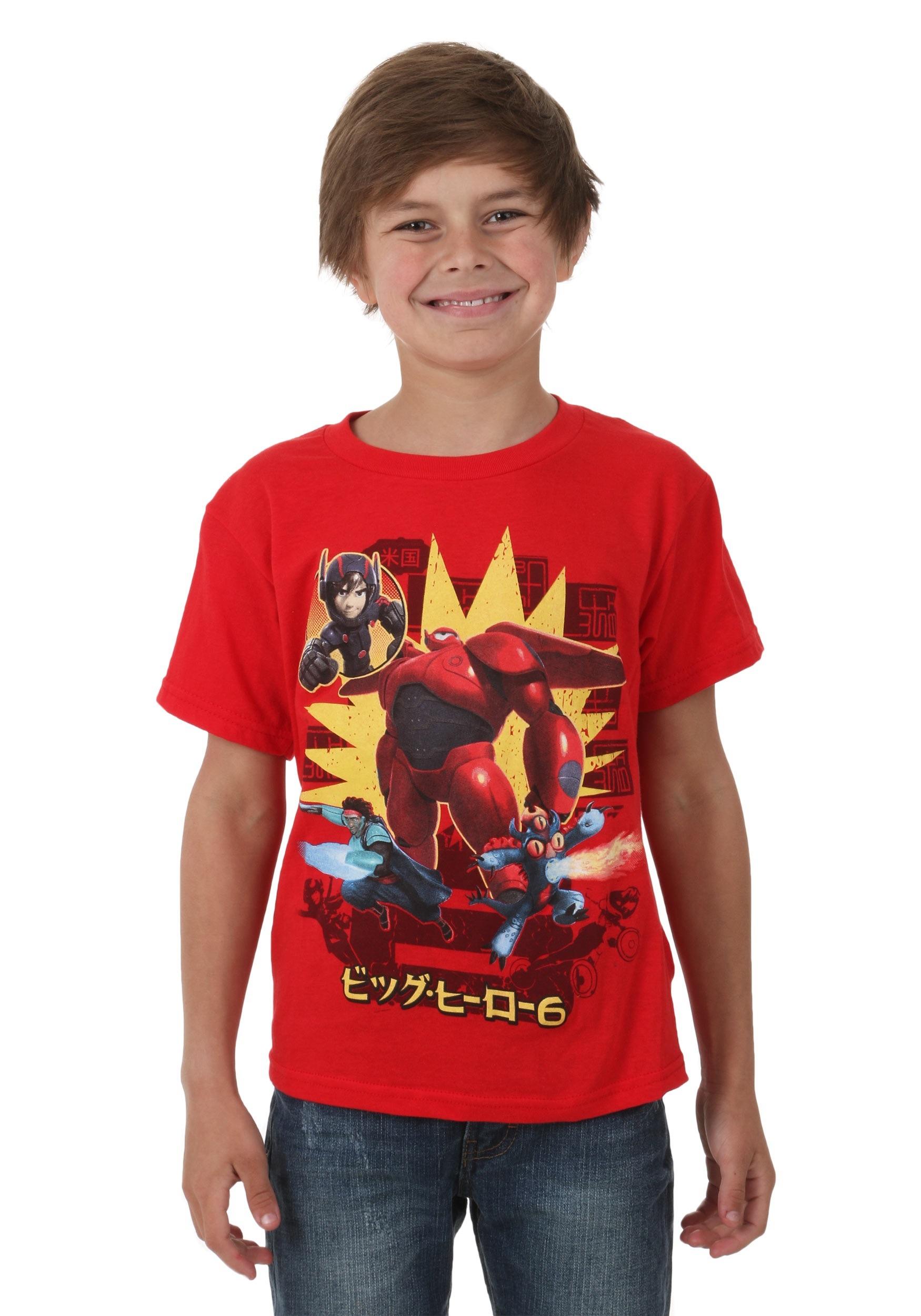 Big Hero 6 Michael Baymax Kids Juvy T-Shirt MAHI016JS3